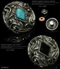 【diosbras-ディオブラス-】【送料無料!!】【品番k&l】オニキス アラベスク透かし彫りコンチョ 【M】 シルバー925コンチョ (ネジ式)