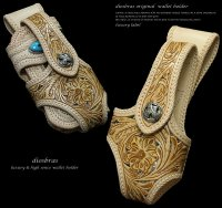 【diosbras-ディオブラス-】透かし彫りバイカーズウォレットホルダー本革サドルレザーカービングシンプルホルダー 【CPA】