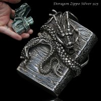 【diosbras-ディオブラス】ドラゴン 竜 龍 ZIPPO ジッポ シルバー925 スターリングシルバー