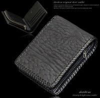 【diosbras-ディオブラス-】本革シャークスキン サメ革 ショートウォレット 二つ折り財布シンプルスタイル 財布 /内側本牛革/wallet/サイフ【SS】