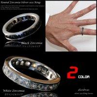 【シルバーリング】【リング】【シルバーアクセサリー】ブラックジルコニア  ホワイトジルコニア  シルバーアクセサリー メンズ シルバーリング 指輪 シルバー925 メンズアクセサリー 大きいサイズ 送料無料