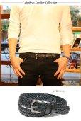 画像8: ベルト メンズ 本革 ビジネス ロング 本革ベルト 黒 茶 メンズベルト 男性用 カジュアル おしゃれ シンプル 革ベルト メンズベルト 父の日 ビジネス 紳士用 ビジネスカジュアル 送料無料 編み込み ステッチ キャメル ブラウン ブラック