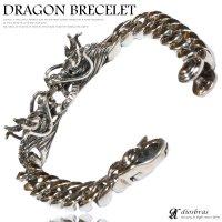 ドラゴン 龍 竜 ブレスレット クロウ 爪 チェーン ブレスレット 髑髏 骸骨