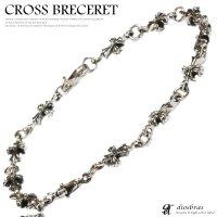 シルバーブレスレット シルバーアクセサリー クロス 十字架 シルバーアクセサリー メンズ シルバーバングル