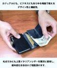画像11: カードケース スライド シャークスキン サメ革 鮫革 サメ皮 財布 ウォレット 二つ折り財布 アルミニウム カードケース スキミング防止 磁気 防止 薄型 スリム RFID カードホルダー スライド式 マネークリップ メンズ レディース キャッシュレス ミニマリスト
