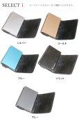 画像7: カードケース スライド イタリアンレザー イタリア レザー 本革 牛革 財布 ウォレット 二つ折り財布 アルミニウム カードケース スキミング防止 磁気 薄型 スリム RFID カードホルダー スライド式 マネークリップ メンズ レディース キャッシュレス ミニマリスト