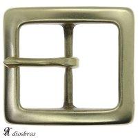 バックルのみ 金具 40mm幅 スクエア型 四角 金属製 バックル交換 バックルなしベルト用 レザークラフト ゴールド アンティークゴールド
