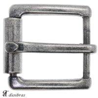 バックルのみ 金具 40mm幅 シルバー アンティークシルバー スクエア型 四角 金属製 バックル交換 バックルなしベルト用 レザークラフト