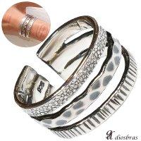 【リング】【シルバー925】3連リング たたき シンプル 指輪 リング / /シルバー/プレーン/ フリーサイズ リング  シルバーアクセサリー メンズ シルバーリング 指輪 シルバー925 メンズアクセサリー