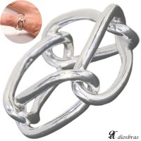 シルバー リング チェーン  リング シルバーアクセサリー メンズ シルバーリング 指輪 シルバー925 メンズアクセサリー 【メール便なら全国送料無料】