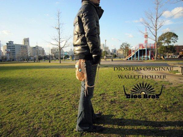 画像4: 【diosbras-ディオブラス-】バイカーズウォレットホルダー本革サドルレザーカービングシンプルホルダー 【CG】